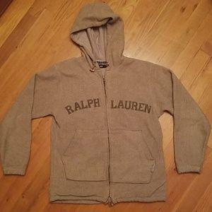 Vintage Ralph Lauren Beige Hoodie Sweater